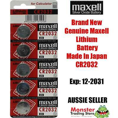AU6.60 • Buy Cr2032 3v 5 Pcs Lithium Button Coin Battery Made In Japan Expires: 12/2029