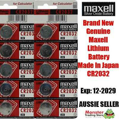 AU12.30 • Buy Cr2032 3v 10 Pcs Lithium Button Coin Battery Made In Japan Expires: 12/2029