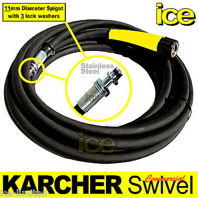 20m KARCHER COMMERCIAL PROFESSIONAL PRESSURE WASHER STEAM CLEANER SWIVEL HOSE 2W • 119.99£