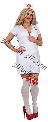 £18 • Buy Womens Adult White Nurse Costume Uniform Outfit FREE STOCKINGS & FREE POST (CN)