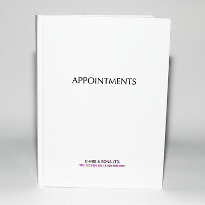 Agenda White Appointment Book - 6 Column • 12.99£