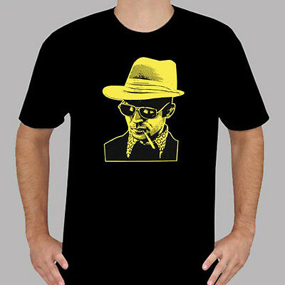 $19.99 • Buy New Hunter S Thompson Dr Gonzo Icon Men's Black T-Shirt Size S To 3XL
