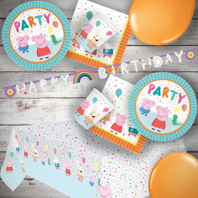 Peppa Pig Party Supplies Tableware, Decorations, Banners, Balloons, Invites • 6.99£