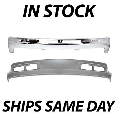 $250.99 • Buy NEW Front Steel Bumper W/ Lower Valance Combo Kit For 2000-2006 Suburban & Tahoe