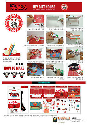 Pucca DIY Gift Pop Up Card And Box For Cookie, Chocolate, Cake, Bread And So On • 26.46£