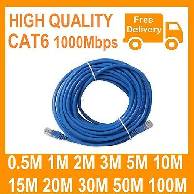 AU6.50 • Buy 1m 2m 3m 5m 10m 15m 20m 30m 50m 100m Ethernet Network Lan Cable CAT6 1000Mbps