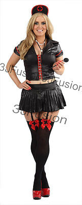 Adult Naughty Nurse Costume Ladies Fancy Dress Outfit FREE STOCKINGS & POST (BR) • 12£