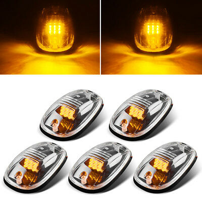 5pcs Cab Roof Marker Lights For 2003 2018 Dodge Ram 2500 3500 4500 Clear
