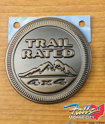 $23.95 • Buy Jeep Wrangler 75th Anniversary Edition 4x4 Trail Rated Emblem Badge OEM