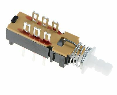 DPDT Changeover Push Button Latching PCB Switch • 1.45£