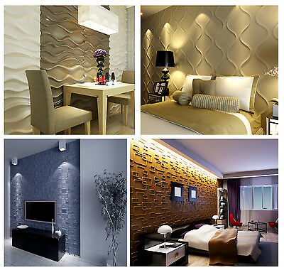 £16 • Buy Natural Bamboo 3D Wall Panel Decorative Wall Ceiling Tiles Cladding Wallpaper