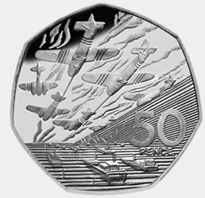 1994 50P COIN RARE D DAY LANDING OLD LARGE STYLE FIFTY PENCE BATTLE OF BRITAIN B • 10£