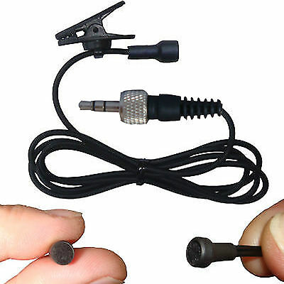 Mini Lavaliere Clip On Lapel Microphone For Wireless Bodypack Transmitter System • 8.99£