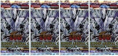 YuGiOh! Hidden Arsenal 4 New And Sealed Booster Packs X4 • 10.89£