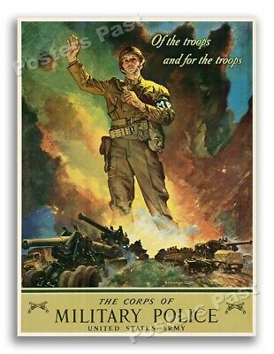 $11.95 • Buy 1942 Military Police Vintage Style WW2 US Army Poster - 18x24