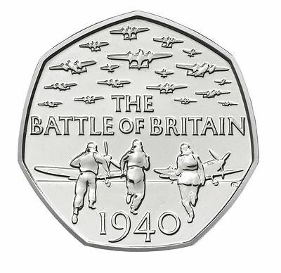 2015 50P COIN THE BATTLE OF BRITAIN 5TH PORTRAIT RARE FIFTY PENCE (b) • 4.97£