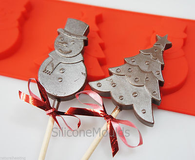 £5.99 • Buy Snowman Christmas Tree Silicone Mould Chocolate Candy Cake Decorating Wax Melt