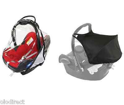 £9.99 • Buy HOOD SUNSHADE CANOPY Raincover Belts Strap Cover Fit MAXI COSI CABRIOFIX  BLACK