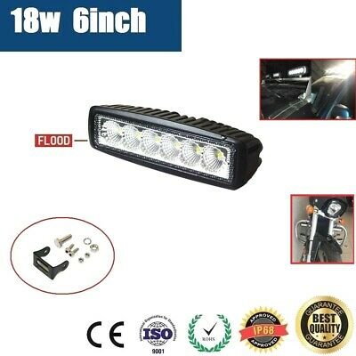AU16.95 • Buy 6inch 18W LED WORK LIGHT OFFROAD FLOOD DRIVING BAR CAR AUTO MOTORCYCLE LAMP ATV