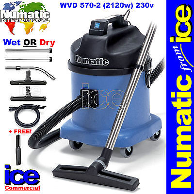 Numatic WVD570 Professional Wet/Dry Duplex Industrial Commercial Vacuum Cleaner • 499.99£
