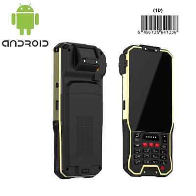 Rugged Handheld Barcode Scanner 1D Laser With Wifi Bluetooth 4g GPS Android 5.1  • 400£