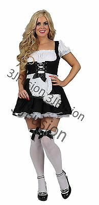 £17 • Buy Sexy French Maid Naughty Costume Outfit Hen Party Fancy Dress FREE POST (BT)