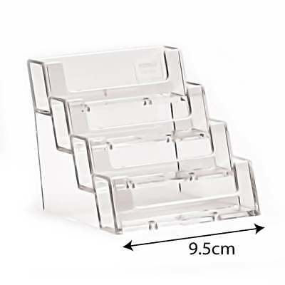 £4.70 • Buy Acrylic 4 Tier Business Card Holder Free Standing Counter Display Retail/Shop