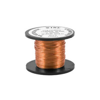 £3.39 • Buy Copper Craft Wire Pale Bronze Enamelled 15M Coil 0.5mm Thick