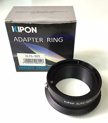 $ CDN163.10 • Buy Kipon Lens Mount Adapter From Alpa To Sony Nex Body #KP-LA-NEX-AL A7 A7r A7II