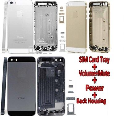 Alloy Metal Replacement Battery Housing Back Case Cover For Apple Iphone 5 • 4.99£