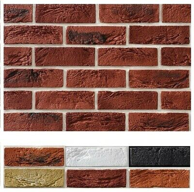 BRICK SLIPS CLADDING WALL TILES FLEXIBLE (Pack Of 60 ) = 1 Sqm LOOK RUSTIC BRICK • 21.99£