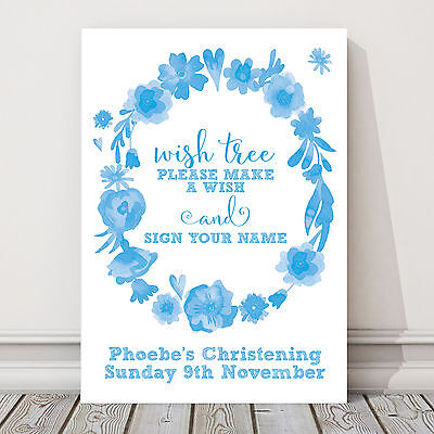 £5.50 • Buy Wishing Tree Guest Book Sign Christening Baptism 1st Birthday Pink Blue CH10