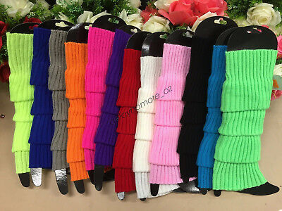 AU6.89 • Buy LEG WARMERS Legging Socks Knitted Women Costume Dance Disco 80s Party Knit Fluro