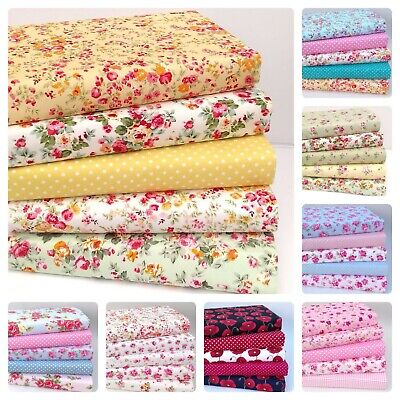£3.95 • Buy NEW FABRIC BUNDLES 100% Cotton QUALITY SEWING MATERIAL CHOICE OF DESIGNS & SIZE