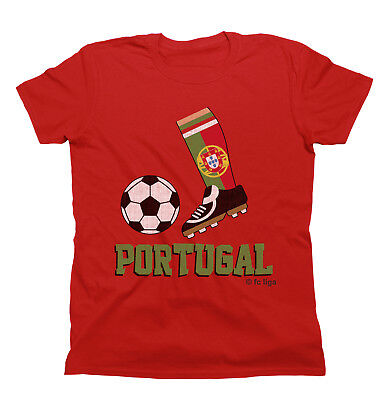 PORTUGAL Football Boot World Cup Kids Organic Cotton T-Shirt Childrens Top Gift • 6.99£