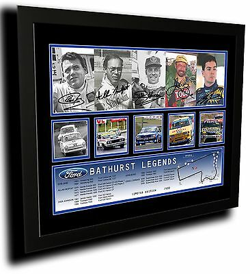AU85 • Buy Ford Bathurst Legends Signed Limited Edition Framed Memorabilia