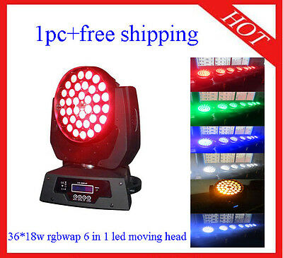 £253 • Buy 36*18W RGBWAP 6 In 1 Led Moving Head Zoom Wash DJ Stage Light 1pc Free Shipping