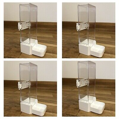 £13.95 • Buy 4 Pack Cage Bird Water Drinker / Feeder For Budgie, Cockatiel, Finch With Clip