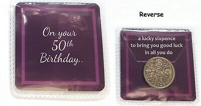 £2.59 • Buy Lucky Sixpence 50th Birthday Gift Celebration Quality Present Good Luck Charm