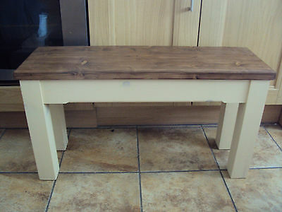 Wooden Farmhouse Handmade Kitchen Dining Bench Sturdy And Solid • 64£