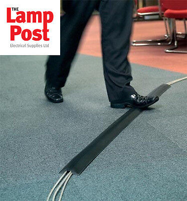 Greenbrook Black PVC Rubber Cable Tidy Floor Cover Protector Trunking 64 X 11mm • 8.99£