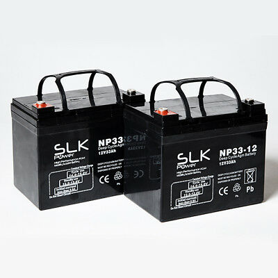 £45.11 • Buy 2 X 12v MOBILITY SCOOTER BATTERIES PRIDE SHOPRIDER ROMA STERLING TGA KYMCO DRIVE