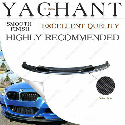 AU559 • Buy CARBON Vs Front Lip Splitter For 12-14 BMW 3 Series F30 F35 4D M-Sport Bumper