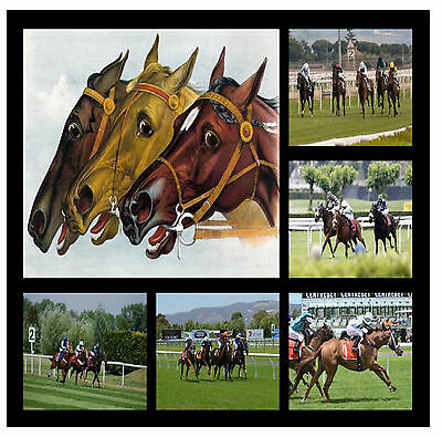 £7.99 • Buy Horse Racing  - Fun Souvenir Novelty Coasters - Easy Clean - Brand New - Gifts