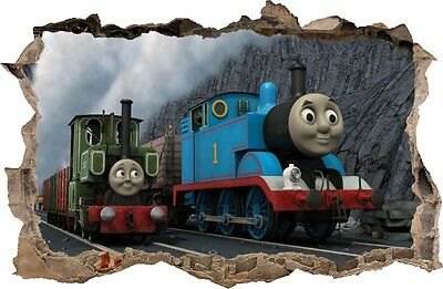 WALL STICKERS HOLE IN THE WALL 3D TRAIN THOMAS Decorative Sticker To The Room 19 • 15.99£