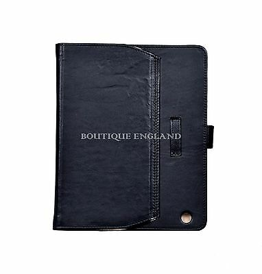 $39.35 • Buy IPAD 2 3 & 4 Black Washed Lambskin Luxury Real Genuine Leather Cover Case Stand