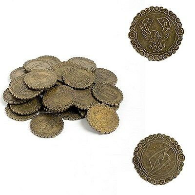 Set Of 20 Copper Look Coins With Eagle Insignia - Costume / Theatre Or LARP • 12.50£