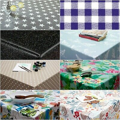 £13.99 • Buy Wipe Clean Tablecloth Oilcloth Vinyl PVC 140cm ROUND Circle 55 Inch Table Cover