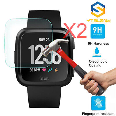 $ CDN4.80 • Buy 2Pcs Premium Tempered Glass Film Cover Screen Protector For Fitbit Versa Watch