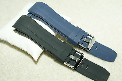 Rubber Divers Curved End. Watch Strap For Citizen/Seiko Deluxe Sport 22mm +Tool • 12.99£
